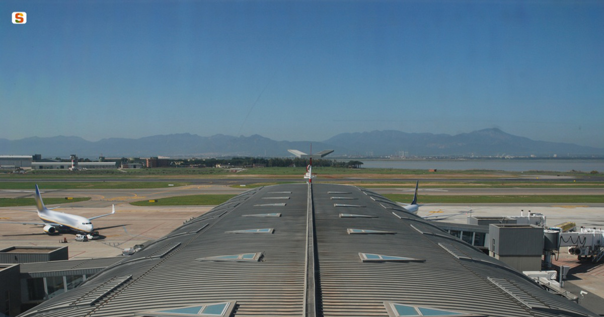 Cagliari, picture from the control tower